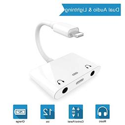 3 in 1 Dual DC3.5mm Audio + Charging Adapter - Audio Chargin