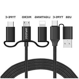 SOSLPAI 5-in-1 Universal USB Charging Cable | Fast Sync & Ch