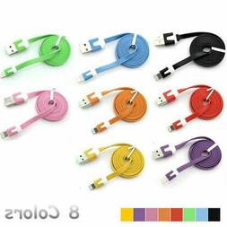 1m colorful flat lightning charging cable