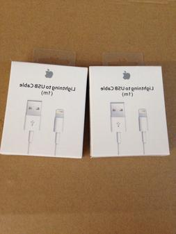 2 Genuine Original Apple Lightning to USB Charger Cable for
