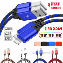 2-Pack Lightning Cable Heavy Duty for iPhone SE 2020 Charger