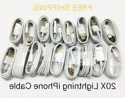20x Lot of iPhone X 5/6/7/8 Plus Lightning USB Cable Charger