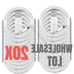20X Wholesale 3Ft 6Ft Lightning Cable USB iPhone Charger Cha