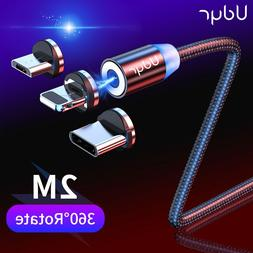 Udyr 2m Magnetic <font><b>Cable</b></font> Micro USB Type C