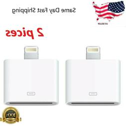 2pc 30 pin to 8 pin   adapter converter for apple iphone/ipa