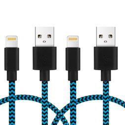 Kootion 2Pcs Blue MFi Certified Apple Lightning Cable Braide