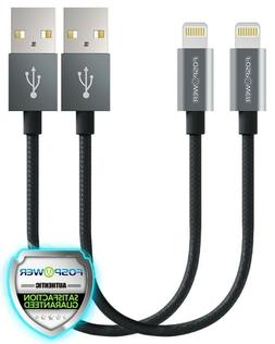 2x Apple MFI Certified Lightning USB Sync Charge Cable 6in i