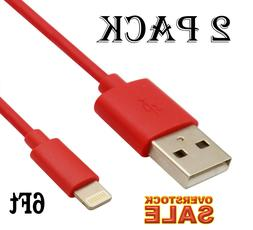 2x USB Cable Charger 6Ft/2M compatible with Lightning oem or