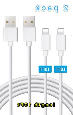 2X10FT USB Cable For OEM Original Apple iPhone5 6s 7 8Plus X