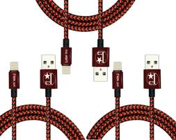 3 PACK Lightning Cable 10FT MFi Certified Charger for Apple