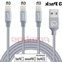 3 Pack 6 Ft Lightning Cable For iPhone X 8 7 6 5 USB Chargin