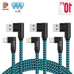 3 Pack 90 Degree iPhone Cable Right Angle lightning Cable US