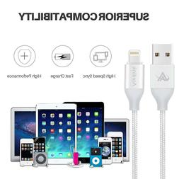 【3 Pack: 3FT 6FT 10FT】Aonlink iPhone Cable, 3Pack Nylon