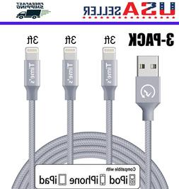 3 pack 3ft lightning cable heavy duty