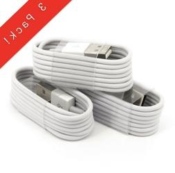 3 Pack 3FT USB Charger / Lightning Cable For iPhone 5, 6, 7,