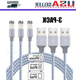 3 pack 6 ft lightning cable heavy