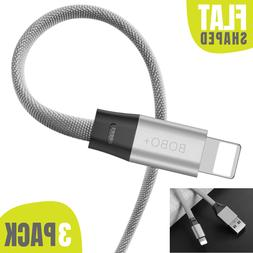3 PACK 6FT Fast USB Lightning Cable Heavy Duty Charger Charg