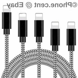 3 PACK - 6FT iPhone Lightning USB Cable Braided Heavy Duty C