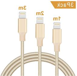 3 Pack Lightning Cable Certified iPhone Charging cable 3ft 6
