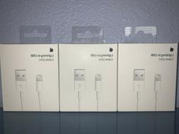 3 PACK ORIGINAL Apple Lightning Cable Charger 2m/6ft iPhone
