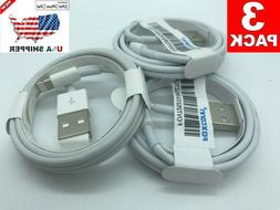 3-Pack USB Charger Cable For Original Apple iPhone 11 5s 6s