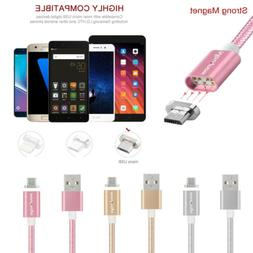 3A Braided Magnetic Lightning USB Charger Charging Cable For