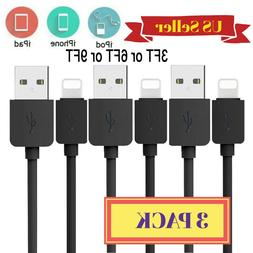 3Pack 3Ft Lightning Cable Heavy Duty Charger Charging Cord F