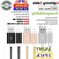 3pack 6ft lightning iphone cable heavy duty