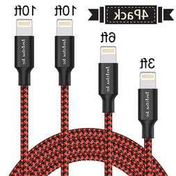 4 Pack Lightning Cable Heavy Duty iPhone 8 7 6 plus 6s 5s Ch