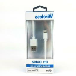 Just Wireless 6 ft cable for Apple Lightning Connector Silve