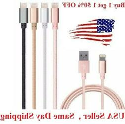 6Ft Lightning Charger USB Cable Durable Nylon Braided For iP