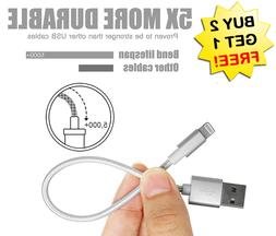 "✔8"" OR 12"" BEST Cable for Iphone Short USB Charger Chargin"