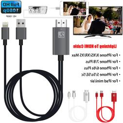 8Pin Lightning to HDMI Digital TV AV Adapter Cable For iPhon