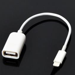 8pin Apple lightning Male to USB Female OTG Adapter Cable fo