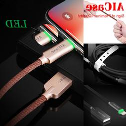 AICase Smart LED Light Lightning Cable Fast Charger For Appl