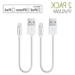 Avantree 2 Pack Short Charging Cable 1ft Compatible with iPh