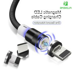 Floveme Magnetic Lightning TypeC Micro Charger Charging Cabl