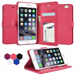 For iPhone 6 Plus, Pink Wallet Case Flip Cover  with 4ft Lig