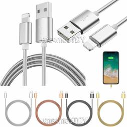 Heavy Duty Metal Braided Lightning USB Charger Cable iPhone
