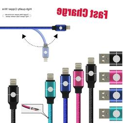 Heavy Duty Metal Braided Lightning USB Charger Durable Cable
