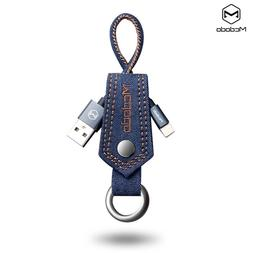 Jean Key Chain Lightning Sync charge Cable Portable Charger
