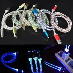 LED Light up Glowing Lightning to USB Charging Cable for iPh