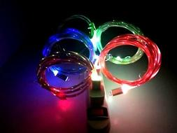 LED Lighted Lightning/Micro USB Charger Cord Cable For iPhon