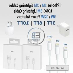 Lightning Cable 3FT 6FT 10FT USB 5W 12W Charger MFi iPhone 5