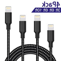 Lightning Cable ONSON 4Packs 3FT 6FT 6FT 10FT for iPhone7 Pl