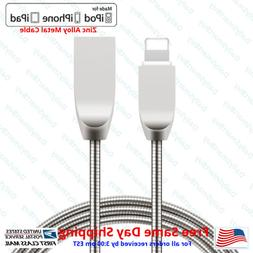 Metal Lightning USB Cable For Apple iPhone 6 6s Plus 5 5s SE
