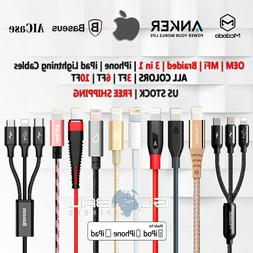 OEM iphone/ipad lightning cable 3/6/10 FT Apple USB charger