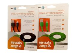 Original Apple Lightning Charge and Sync Cable by AT&T 10 ft