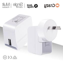 USB wall charger Adapter for iPhone iPad Samsung AU 2.4A Fas