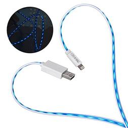 CENNBIE Apple MFi Certified LED Lightning Cable Flowing Ligh